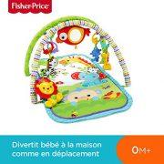 Fisher-Price-Amis-de-la-Jungle-3-en-1-Tapis-dveil-Musical-pour-Bb-Transportable-2-Arches-de-Jeu-5-Jouets-Amovibles-ds-la-Naissance-CHP85-0