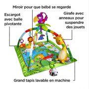 Fisher-Price-Tapis-Musical-dveil-de-la-Jungle-pour-Bb-avec-Plus-de-10-Jouets-et-Activits-Musique-et-Lumires-Dansantes-ds-la-Naissance-DFP08-0-0