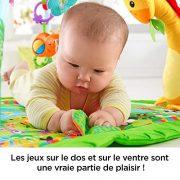 Fisher-Price-Tapis-Musical-dveil-de-la-Jungle-pour-Bb-avec-Plus-de-10-Jouets-et-Activits-Musique-et-Lumires-Dansantes-ds-la-Naissance-DFP08-0-1