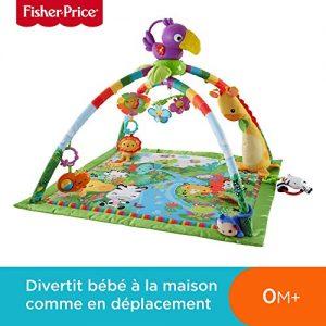 Fisher-Price-Tapis-Musical-dveil-de-la-Jungle-pour-Bb-avec-Plus-de-10-Jouets-et-Activits-Musique-et-Lumires-Dansantes-ds-la-Naissance-DFP08-0