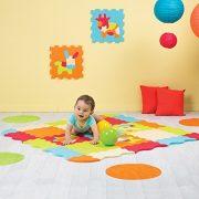 LUDI--Tapis-de-sol-pais-pour-lveil-de-bb--10006-puzzle-gant-aux-motifs-Animaux--ds-10-mois--lot-de-9-dalles-en-mousse-multicolores-et-44-lments-amovibles-pour-un-tapis-de-jeu-ou-parc-0-0