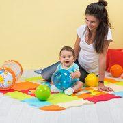 LUDI--Tapis-de-sol-pais-pour-lveil-de-bb--10006-puzzle-gant-aux-motifs-Animaux--ds-10-mois--lot-de-9-dalles-en-mousse-multicolores-et-44-lments-amovibles-pour-un-tapis-de-jeu-ou-parc-0-1