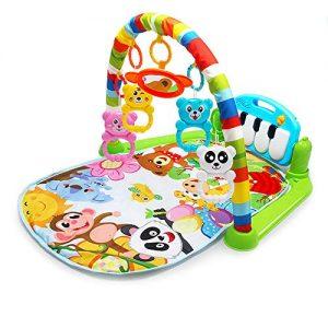 Cozyhoma-Kick-et-Play-Piano-Gym-Born-bb-Tapis-de-Jeu-avec-Centre-dactivit-Musique-et-Sons-Toys-Pad-pour-ou-garon-et-Fille-036-Mois-60x74x42cm-color-0