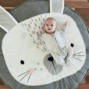 Mignon-Tapis-Lapin-Gris-Tapis-veil-Jeu-Bb-Rond-Animaux-Moquette-Enfant-Tapis-Chambre-Bebe-Fille-Garcon-Regalo-0