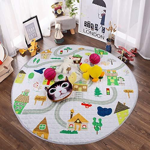 Winthome-Tapis-de-Jeu-Tapis-dveil-Pliable-Multi-fonction-Organisateur-de-Jouets-pour-Bb-Enfant-Tout-petit-Motif-Cartoon-Color-Maison-0