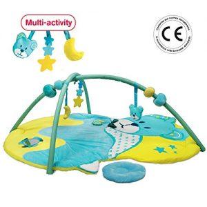 LUDI-Tapis-dveil-Ours-ds-la-naissance-Grand-tapis-moelleux-et-scurisant-102-x-132-cm-8-activits-pour-jouer-puce-musicale-boules-coulissantes-Arches-amovibles-20007-0