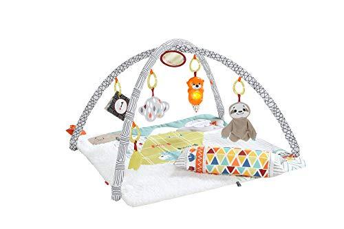 Fisher-Price-Mon-Tapis-dveil-Douceur-transportable-pour-bb-arche-de-jeu-modulable-coussin-et-6-jouets-amovibles-ds-la-naissance-GKD45-0