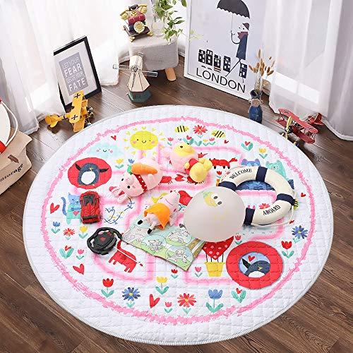 Winthome-Tapis-de-jeu-pour-bb-Rangement-de-jouets-pour-tapis-de-gymnastique-en-coton-antidrapant-tapis-rampant-lavable-59-surclassement-maison-monde-marin-Fort-rose-0